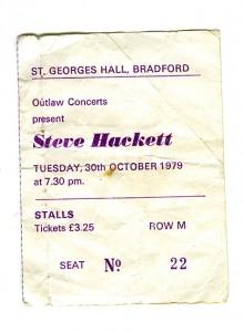 Steve Hackett ticket