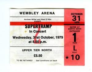 Supertramp ticket