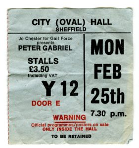 Peter Gabriel ticket