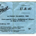 UB40 ticket