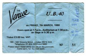 UB40 ticket