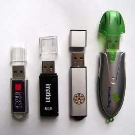 Flash drives with caps
