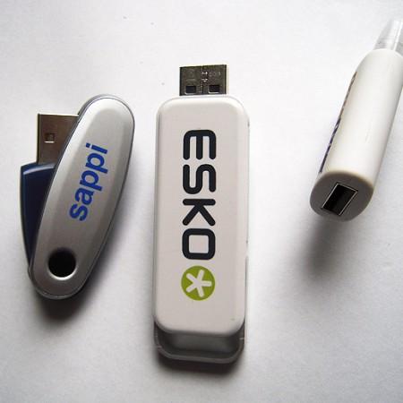 Retractable flash drives