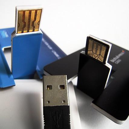 Flat flash drives