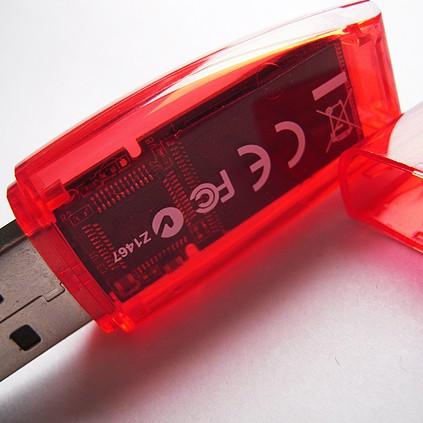 See-through flash drive