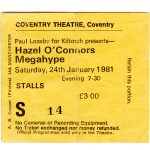 Hazel O'Connor ticket